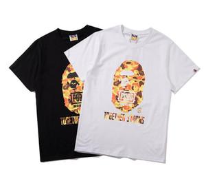 gündelik kısa kollu tişört toptan Ücretsiz nakliye baskı Ape kafa eklem yaz kadın ve erkek gelgit marka