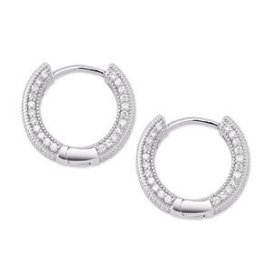 2019 New Big CZ Алмазный серьги серебряные украшения Позолоченные серьги стержня Женщины Мужчины серьги Cross Copper