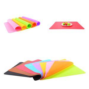 hot 40x30cm Silikon Mats Pişirme Liner Silikon Fırın Mat Isı Yalıtımı Kaymaz Pad Kid Tablo Placemat Dekorasyon Mat Pasta ToolsT2I5993