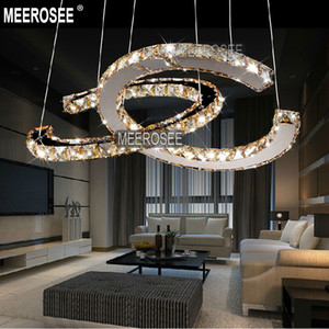 LED de diamante moderna luminária de Fixação Chrome candelabro de cristal Luz Lustres Lâmpada de suspensão Nordic decoração de casa para um jantar Sala