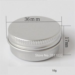 100pcs Lot 10G Aluminum Cosmetic Cream Jar, Empty Metal Jar Screw Lid Cap 10ML Aluminum Box Aluminum Ointment Cosmetic Jar