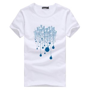 Verão Curto T Shirt Homens Marca de Roupas de Alta Qualidade de Design Puro Algodão Masculino T-shirt de Impressão Tshirt Homens Causal Camisetas