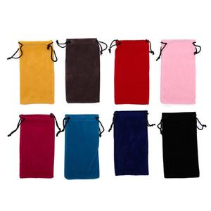الجملة جلد مقاوم للماء نظارات بلاستيكية لينة الحقيبة نظارات حقيبة النظارات حالة اللون عشوائية 1PCS جودة عالية