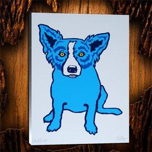 Hot Sale George Blue Dog Rodrigue animal Hi Qualidade HD Canvas Imprimir Wall Art pintura a óleo Home Decor sobre tela multi Tamanhos Opções