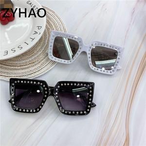 2020 luxo strass ÓCULOS DE CRIANÇA Quadratura Sol Óculos crianças bebê Sunglasses Rapazes Raparigas okulary Feminino