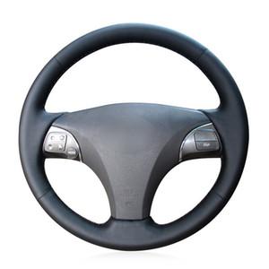 غطاء عجلة القيادة من الجلد الاصطناعي الأسود لكزس ES240 ES250 ES300 ES350