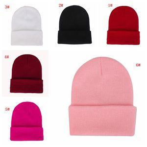 Bonnet unisexe Couleur unie Hat automne hiver en laine douce et chaude Blends Bonnet Hommes Femmes Calotte Chapeaux Gorro Ski Hat 23 couleurs DBC VT1110