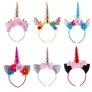 Emmabbay Magical Unicorn Horn Head Party Fleurs cheveux Bandeau Costume Party cosplay