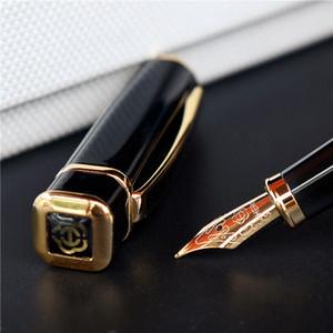 Hero 979 Square Cap Metal Fountain Pen Golden Plates Clip Iridium Fine Nib 0.5mm Fashion Writing Ink Pen for Office Business