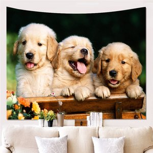 Cute Dogs 3D Printing 150x200cm Blanket Lovely Pet Dog Tapestries Wall Hanging Cheap Tapestry Free Shipping