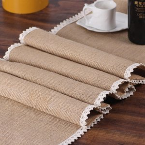 Party supplies linen table runner flag lace table runner Christmas wedding decoration supplies S