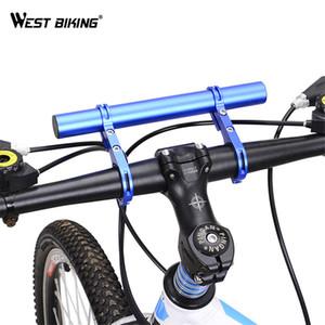 West Biking Bicicleta Guiador Extensor 25.4 / 31.8mm Ciclismo Quadro Duplo Extensão Montar Titular Para Bicicleta Luz C19041301