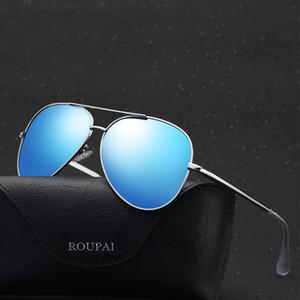 Men Pilot Sun Glasses Metail Frame Driving Sunglasses Polarized Sunglasses High Quality Male Fashion Mirror Sunglass