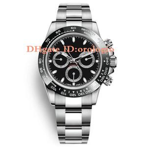 Céramique Noir Top Mens designer entièrement en acier inoxydable de luxe Japon VK64 chronographe mouvement Mens Watch 5ATM étanche Luminous Diver watch