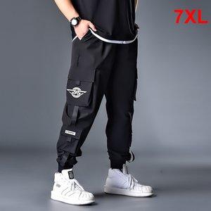 Hip Hop Streetwear Pant Erkekler Oversize Kargo Pantolon Sweatpants Erkek Jogger Pantolon Yüksek Kalite Artı Szie 6XL 7XL HX413