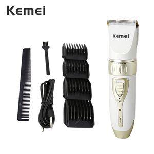Kemei 1817 Trimmer recargable para hombre máquina de afeitar el pelo Salón Trimmer máquina del pelo para los hombres de pelo profesional enchufe de la UE 42D pEMNX