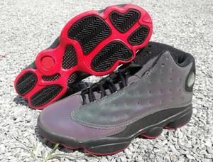 مع Box 3M أحذية كرة السلة العاكسة 13 13s Chicago GS Hyper Royal DMP Atmosphere Grey حصل على لعبة كاب وسبورت بثوب