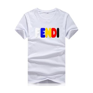 Maglietta di lusso Uomo Estate Moda Arcobaleno Strisce a manica manica stile T-shirt Maglietta hip-hop nera streetwear per la camicia di marca di marea dei fan