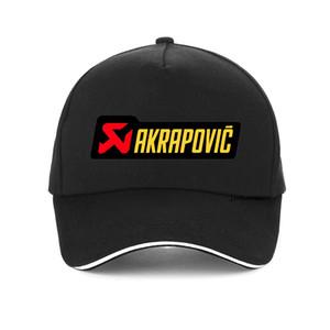 Exhaust Logo Sistema Akrapovic tampa de alta qualidade 100% algodão Dad chapéu da forma Corrida de carro Bonés de beisebol Unisex Hip hop snapback chapéus