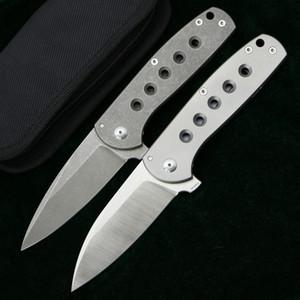 Customized Falcon flipper folding knife M390 blade titanium handle outdoor camping hunting fishing tactical pocket fruit knives EDC tools