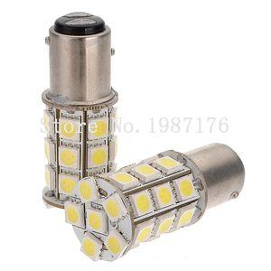 10 배 1157 BAY15D의 P21 / 5W BAZ15D의 P21 / 4W BA15D 5050 27 SMD 자동차 LED 화이트 레드 12V 24V 선박 보트 트럭 밴 자동차 브레이크 정지 테일 라이트 램프