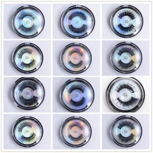 3D FALSO Mink Cabelo Cílios OEM / custom / Logo Privada Aceitável Protein 3D Silk Lashes livre de crueldade dramáticas cílios falsos com Retailbox