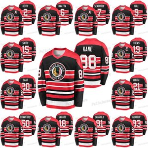 Chicago Blackhawks 88 Patrick Kane Corey Crawford Jonathan Toews Brent Seabrook Connor Murphy Bobby Orr Pierre Pilote Duncan Keith Jersey