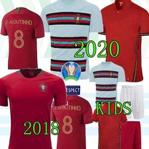 20 21 Fernandes RONALDO João Felix Futebol Homens Jersey crianças 2020 2021 André Silva PEPE DANILO QUARESMA Futebol shirt meninos criados uniformes tailandeses