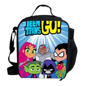 Lunch Bag Cartoon Teen Go Printed Girls Portable Thermal Picnic Bags for School Kids Boys Lunch Box Tote