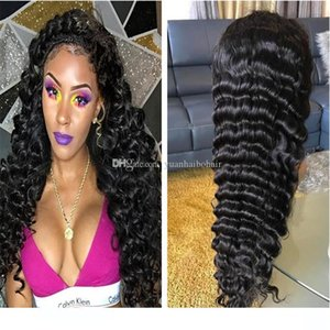 Human Hair wigs Lace Frontal wigss Virgin Brazilian Hair Wholesale Price Deep Wave Full Lace wigs For Black Woman Free Shipping