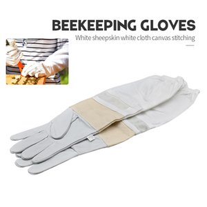 Марка Белых овчин Белой Ткань Холст Строчка Bee Перчатка Вентилируемый Профессиональный Bee для Apiculture пчеловода Улей