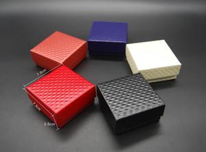 도매 보석 케이스 디스플레이 판지 목걸이 귀걸이 반지 팔찌 상자 포장 포장 저렴한 판매 선물 상자 스폰지 무료 배송