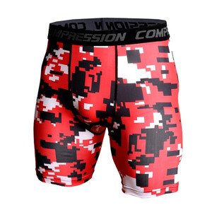Men's Exercise Gym Shorts Pro Quick-dry Sportswear Running Bodybuilding Skin Sport Training Fitness Compression Shorts with Comp
