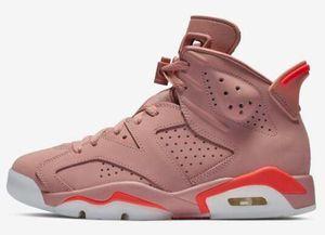 أفضل جودة 6 الألفية أحذية كرة السلة الوردي الرجال النساء 6 ثانية aleali قد الوردي الرياضة أحذية رياضية جديدة مع مربع