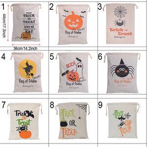 Halloween bonbons cadeau Sac fantôme citrouille mignon Fête Collation Sac à main enfants à la Fête Festival Sac à cordonnet Décoration BH2054 CY