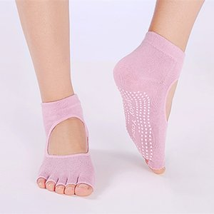 2020 Women Yoga Socks Half Toe Non Slip Ladies Massage Sport Socks Half-fingers Cotton Warm Exercise Running Hose