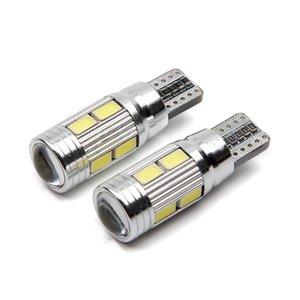 10X LED Auto Canbus T10 10 SMD 5630 W2.1x9.5d W5W 192 194 blanc 12V dôme de stationnement de coin voiture lampe largeur lumière marqueur de l'ampoule de lampe.