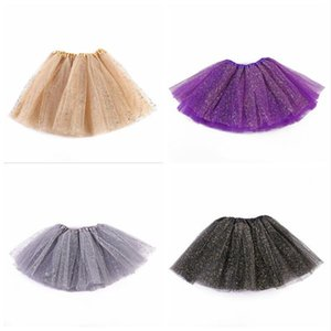 Kids Tutu Skirts Baby Girls Sequin Mesh Princess Mini Dress Tulle Pettiskirt Ballet Costume Clothes Ball Gown Skirt Party Stagewear BYP647
