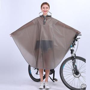 High quality Mens Womens Cycling Bicycle Bike Raincoat Rain Cape Poncho Hooded Windproof Rain Coat Mobility Scooter Cover CX200629