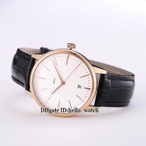 Patrimony 85180 / 000R-9248 Giappone Miyota 8215 quadrante bianco automatico cassa in oro rosa orologio da uomo cinturino in pelle orologi da uomo di alta qualità