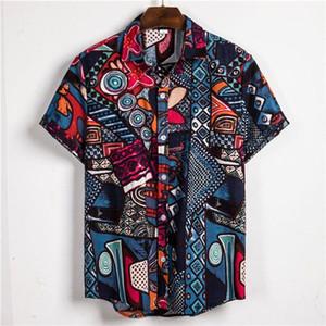 Рубашки Printed Polos цветочный с коротким рукавом Поло Мода Tops Casual Summer Polos Рубашки мужские 2020 Mens Designer