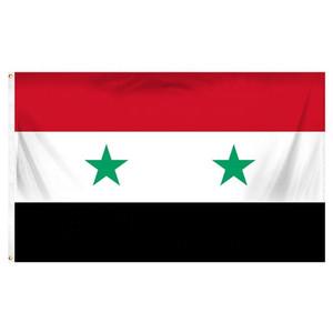Syria Flag 3x5FT 150x90cm stampa del poliestere coperta appeso all'aperto di vendita caldo di bandiera nazionale con ottone Occhiello Shippin
