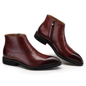 Ankle Boots Men Bota Masculina Style Cowhide Boots Botas Hombre Black Brown Work Shoes Cowhide Men Boots 44 Size
