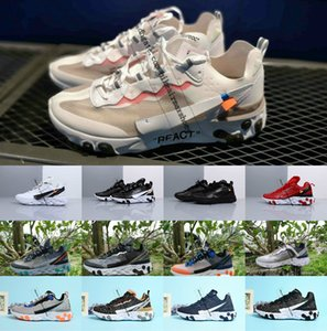 2019 New UNDERCOVER x Upcoming React Element 87 Pack off black White Sneakers Brand Trainer Men Women Designer Running Shoes Zapatos
