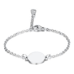 Charm bracelet and bangles Titanium Steel Lettering tricolor round brand bracelet Fashion Bracelet