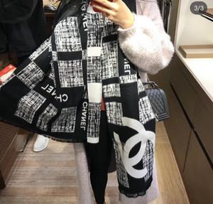 2019 Europa y América del reciente Mujer de la bufanda del algodón de seda rectangular de invierno bufanda de las mujeres de calidad súper diseño