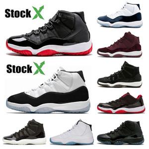 Auf x 2020 Designer 11 11s Herren-Basketball-Schuhe Bred Concord 45 Cap und Gown Legend Blau Gym Rot XI Men Sportschuhe