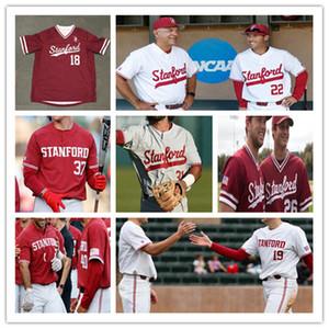 NCAA 2020 Stanford Cardinal Beyzbol Jersey Max Meier Nicolas Lopez Brett Barrera Zach Grech Quinn Mathews Nick Brueser Tim Tawa 4XL Özel
