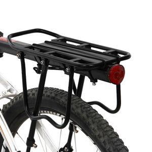 Bicycle Rack Bike Rear Shelf Cycling Luggage Rear Carrier Trunk Road Bike MTB Cargo Support Light Reflective Plate Bracket