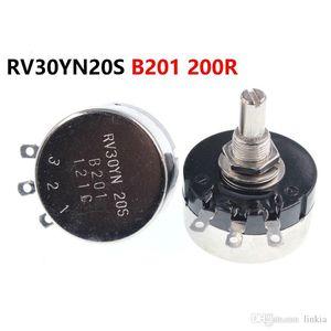 Single turn carbon film potentiometer RV30YN20S B201 200R 3W adjustable resistor